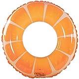 QUN FENG 浮き輪 ベビー浮き輪 水泳用品 子供用浮き輪 水泳補助具 高安全性 ボート フロート 水遊び ウォーターゲーム プールトイ おもちゃ イベント用品 プール 海 夏の日 かわいい オレンジ形 90cm