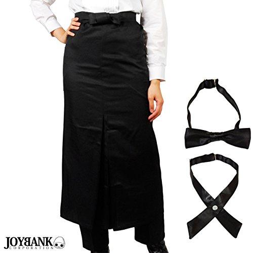 JOYBANK カフェ バー ソムリエ エプロン タイ2点セットつき 衣装 コスプレ 男女兼用