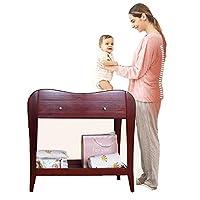 ベビーおむつテーブル 赤ちゃん、多機能健康ベビーケアステーションドレッサースタンド、ベビータッチケア用木製おむつ交換台