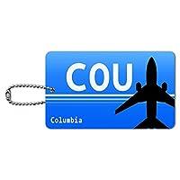 コロンビアMO(COU)空港コード IDカード荷物タグ