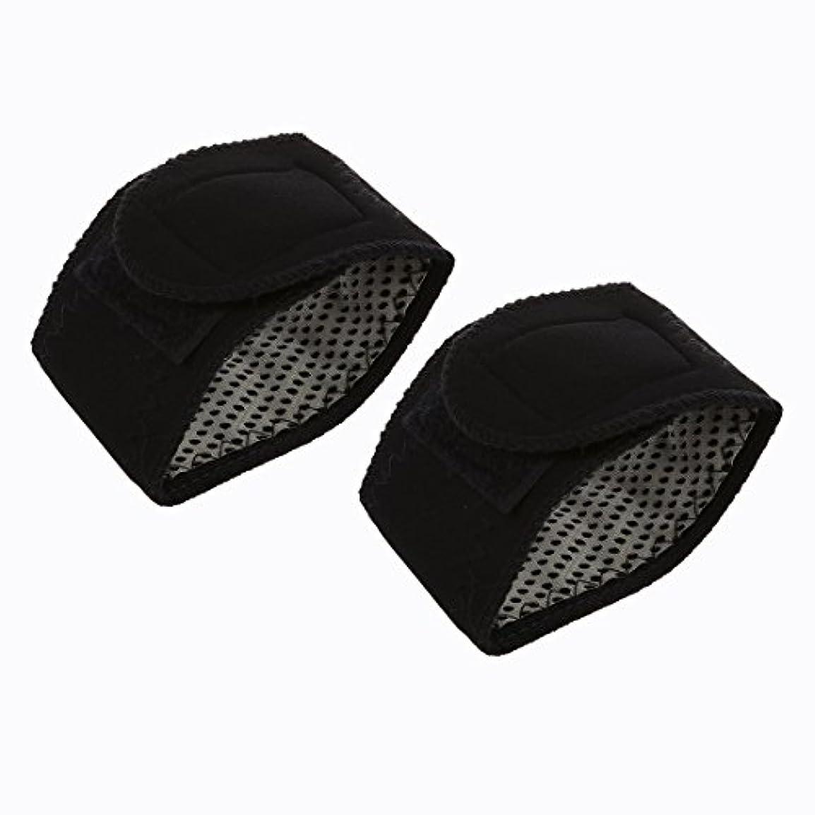 所有者やりすぎ剃るACAMPTAR 2xトルマリン セルフ発熱リスト ブレースサポートストラップ 磁気 ファー 赤外線