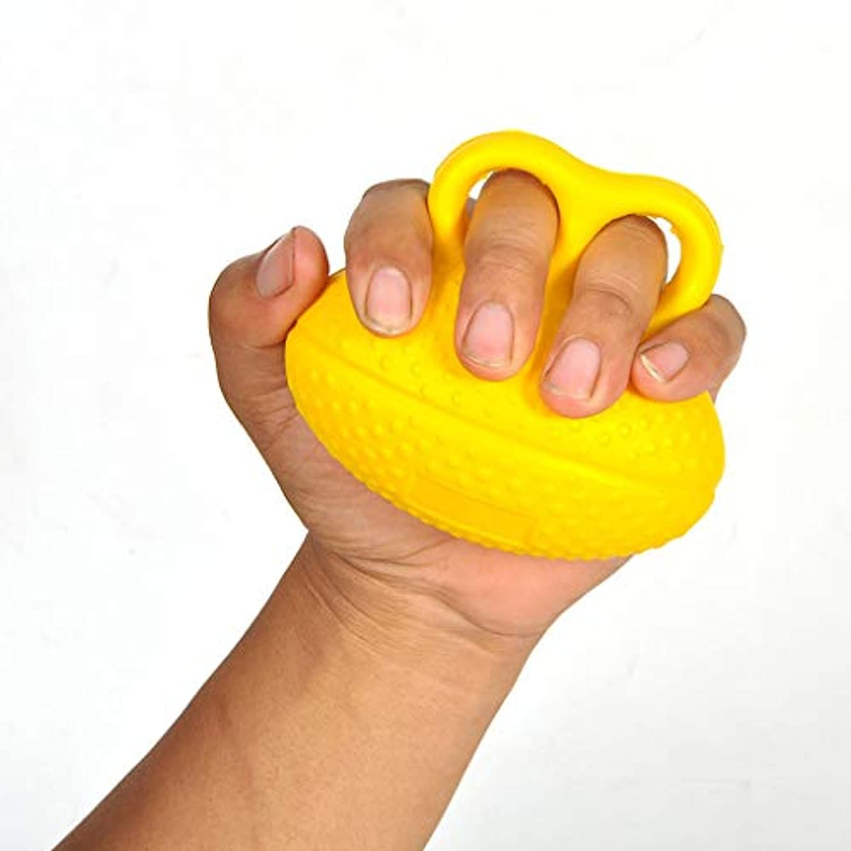 ここに豚肉エロチックダブル指の卵形の脳卒中患者のためのフィンガーグリップ機器、手スクワット、手首に巻かれた患者のためのフィンガーグリップボール大人のリハビリテーション2本指グリップ