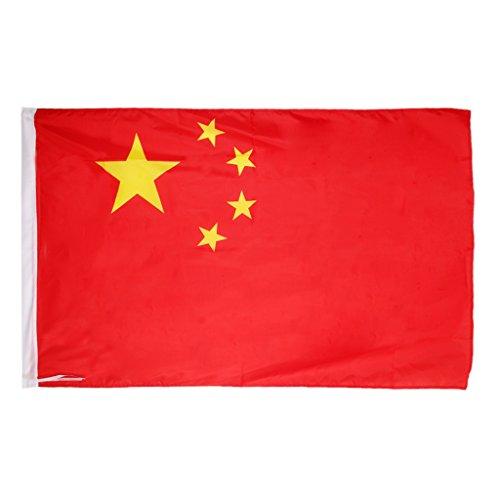 【ノーブランド品】中国の国旗 高級ポリエステル複線紅旗 サイズ:4号96 * 144cm