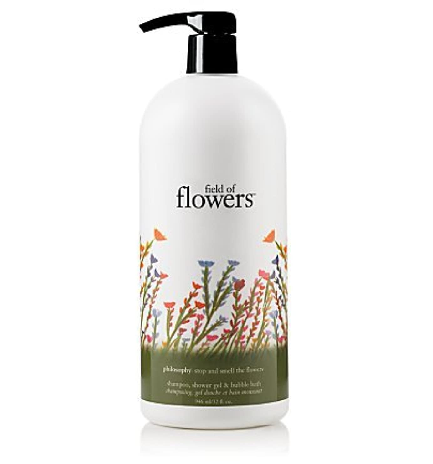 代わりにを立てる円形のコーナーfield of flowers (フィールド オブ フラワーズ) 32.0 oz (960ml) shampoo, shower gel & bubble bath for Women