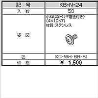 三協アルミ α-Pro アルファプロ ねじセット (50個入り) 小ねじなべ(平座金付)(4×10×7) KB-N-24 『外構DIY部品』 形材色 シルバー