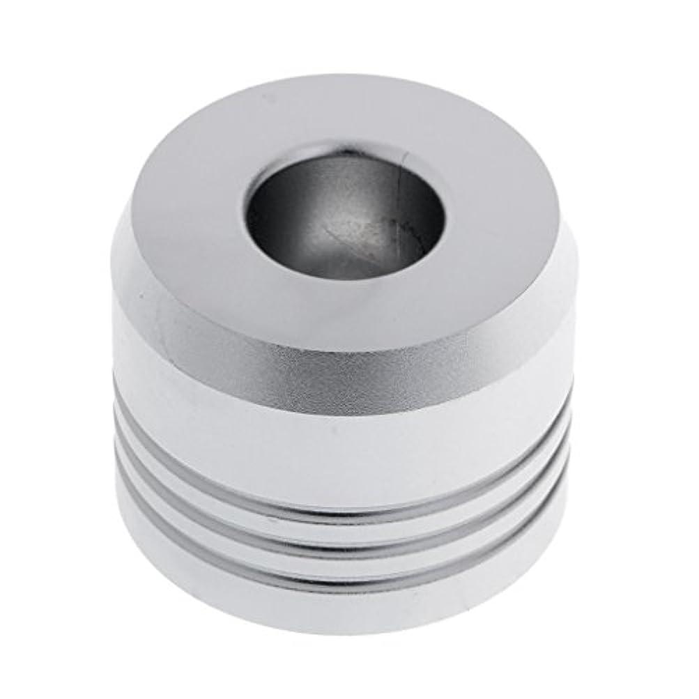 信頼性構築する予防接種カミソリスタンド スタンド シェービング カミソリホルダー ベース サポート 調節可 ミニサイズ デザイン 場所を節約 2色選べ - 銀