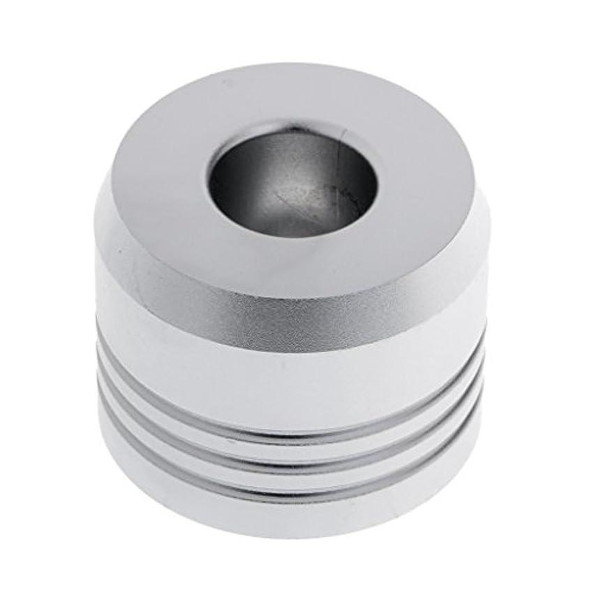 層信じる透けて見えるカミソリスタンド スタンド シェービング カミソリホルダー ベース サポート 調節可 ミニサイズ デザイン 場所を節約 2色選べ - 銀