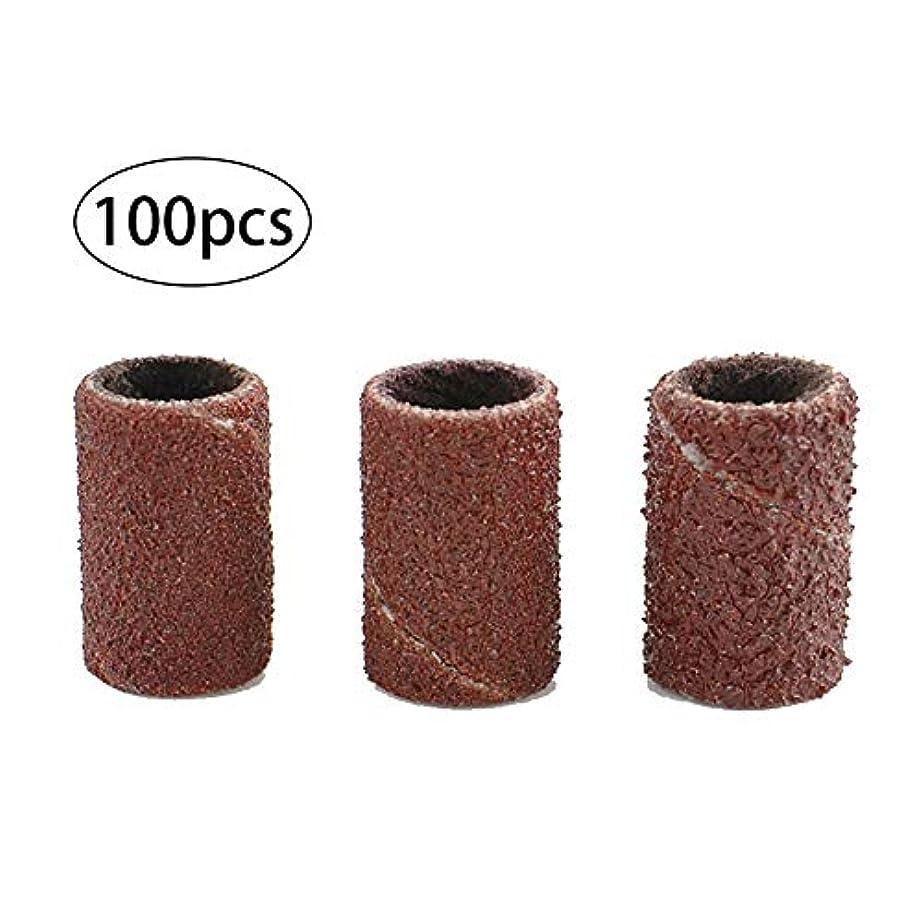 薬局薬局落とし穴リング必需品砂リングネイルファイルドリル研削盤研磨機をサンディング特別なネイル100 PCSバンドをサンディング