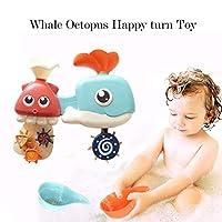 Cinhentクジラ水車漫画動物子供赤ちゃんのシャワー風呂のおもちゃ入浴浴槽楽しい浮遊水遊びスプレー浴室のおもちゃ| Jtogo.jp子供、赤ちゃん、幼児のための理想的なおもちゃ