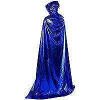 [210cm青]ハロウィンフード付きのクローククリスマスパーティーコスプレ衣装
