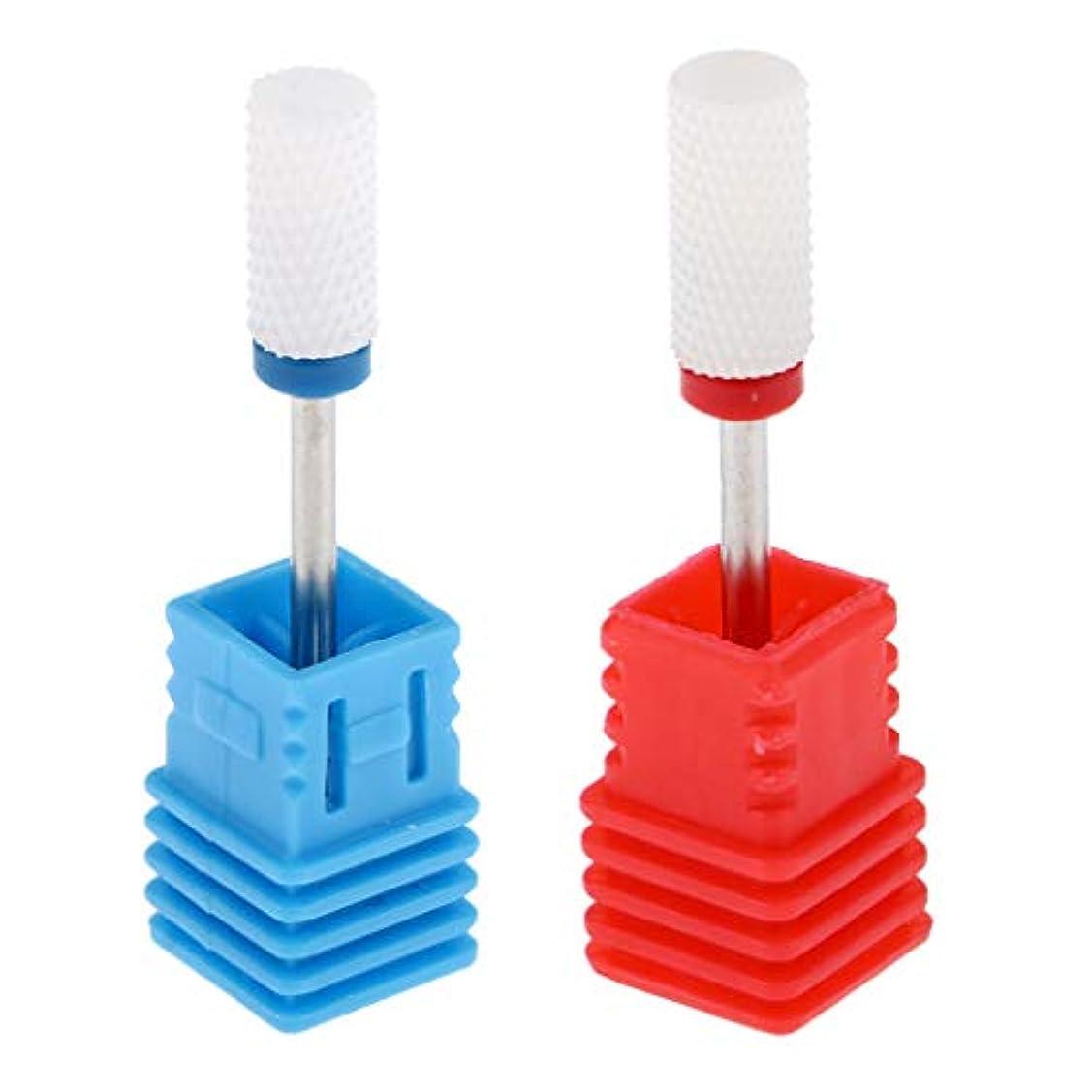 豆統治する規制するSM SunniMix ネイルドリルビット ネイルビット セラミック 研削ヘッド マニキュアビット 爪磨き 2本入り