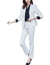 スーツ レディース 2点セット ホワイト スカート パンツ セレモニー フォーマル 通勤 ストレッチ 大きいサイズ 入園式 卒業式 結婚式 エレガンス おしゃれ