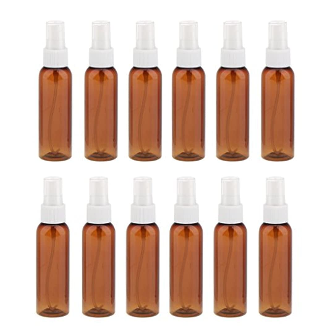 しがみつく気絶させるガス詰め替え 化粧品容器 コンセプト 空のスプレーボトル 旅行 漏れ防止 60ml 12本 全3色 - 白