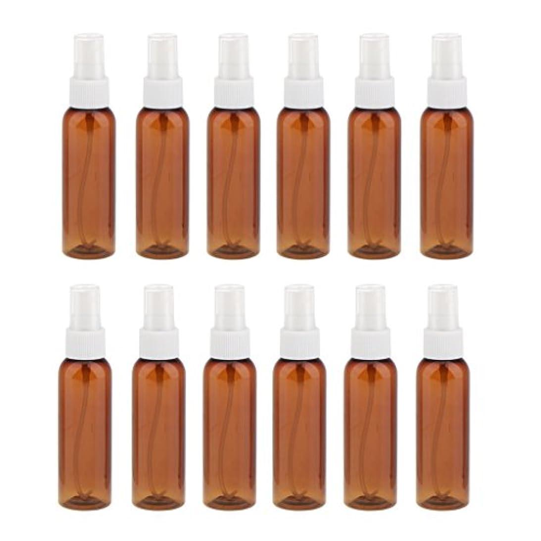 以内に装置モザイクSONONIA 詰め替え 化粧品容器 コンセプト 空のスプレーボトル 旅行 漏れ防止 60ml 12本 全3色 - 白