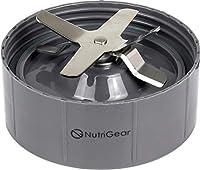 Nutribullet Extractorブレード交換用by nutrigear | Nutribullet交換パーツ&アクセサリー| Fits Nutribullet 600W and Pro 900W Blender 4 Inch グレー NG-NB-BLD