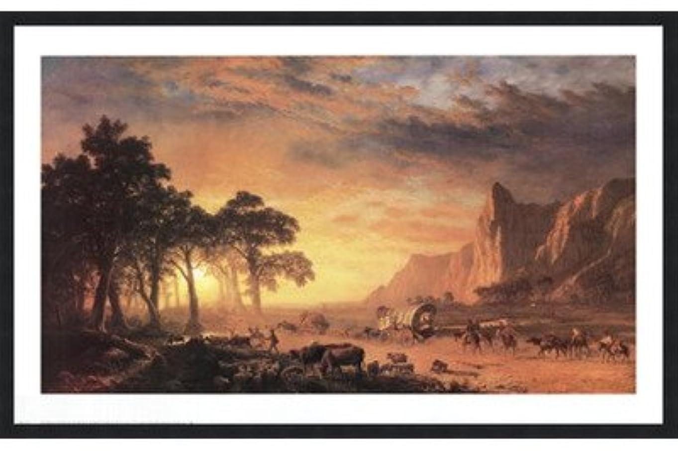 プロポーショナル完全に乾く排泄するOregon Trail , The by Albert Bierstadt – 36 x 24インチ – アートプリントポスター LE_34237-F101-36x24