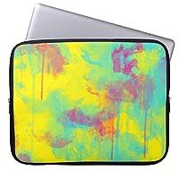 """UDDesign夏 抽象的 水彩画 (ばちゃばちゃ)跳ねる 10インチ ラップトップバッグ ブリーフケース プロテクターカバー ノートパソコン バッグ ラップトップ 衝撃吸収 9.7インチ iPad Pro / 12"""" MacBook用"""