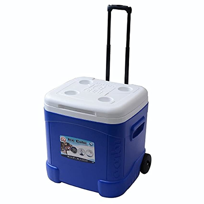 アグネスグレイはちみつとんでもないIglooイグルー クーラーボックス キャスター付 60QT  Ice Cube Roller Cooler (60-Quart, Ocean Blue)