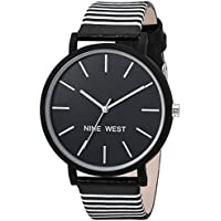 Nine West Women's Striped Strap Watch