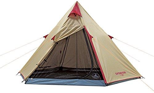 キャプテンスタッグ(CAPTAIN STAG) テント テント アルミワンポールテント 300UV UA-16 ティピー型 3~4人用 PU加工 ジュラルミンポール キャリーバッグ付き