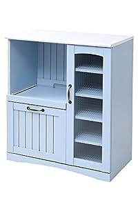 JKプラン フレンチカントリー 家具 キッチンカウンター 幅 75 キッチン収納 フレンチ スタイル シャビー おしゃれ 可愛い パステル ブルー FFC-0005-BL