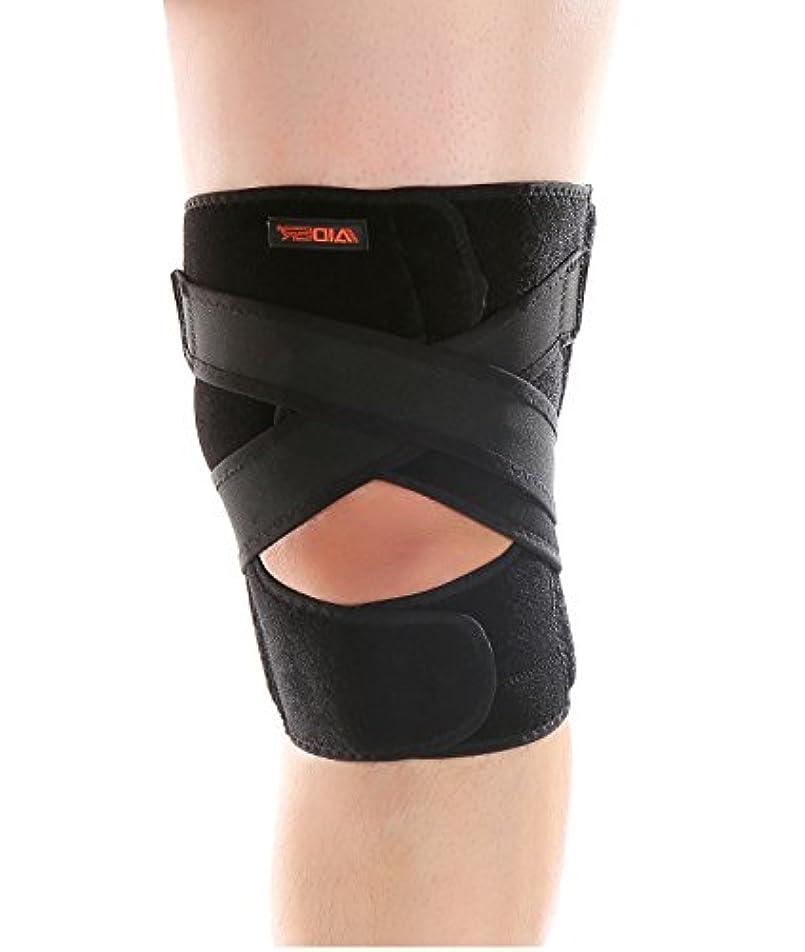 詐欺匿名タイヤAIDER エイダー 膝サポーター 後十字靭帯 用 Knee Support TYPE5 フリーサイズ 左足 [並行輸入品]