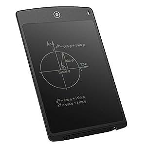 電子パッド LCD 電子メモ デジタルメモ スタイラス付き 薄型4mm 定規機能 電子手帳 ワンタッチ 文房具 家、オフィス、学校などのに対応 (12インチ)