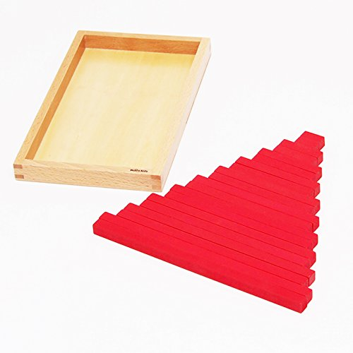 【MONTE Kids】モンテッソーリ教具 -- 赤い棒 ミニサイズ -- Montessori 知育玩具教具 幼児早期教育 モンテ...