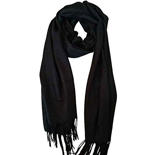 OOSILK luxury scarf scarf shawl stall thick wool cashmere plain unisex