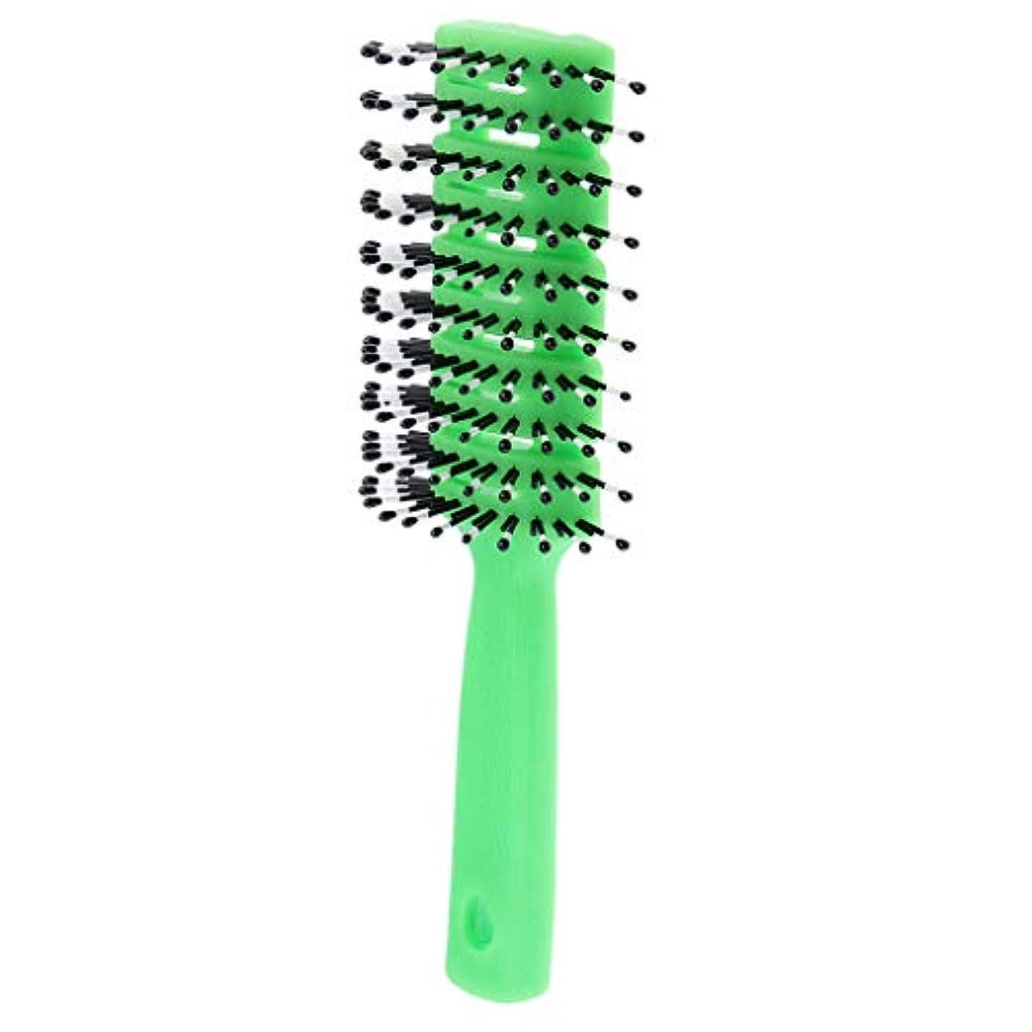 どうしたの貸し手要旨B Baosity ヘアコーム 静電防止櫛 ヘアブラシ 3色選べ - 緑