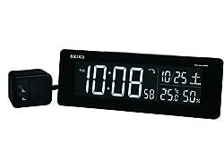 セイコー クロック 目覚まし時計 電波 デジタル 交流式 カラー液晶 シリーズC3 黒 DL205K SEIKO