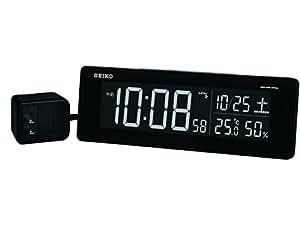 SEIKO CLOCK(セイコークロック) 交流式カラー液晶デジタル電波目覚まし時計(黒) DL205K