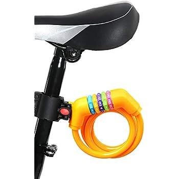 バイク ダイヤルロック ワイヤーロック 5桁ダイヤル式 自転車 ロック 長1200mm 横断面直径12mm 携帯便利 頑丈 盗難防止に