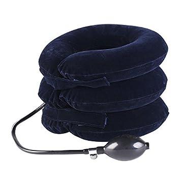エアー ネックストレッチャー JoinValue 軽量 ネックストレッチ ポンプ タイプ 寝違え対策 エアー首・肩マッサージャー 旅行、家庭用