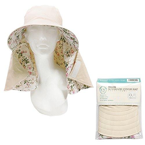 リベルタ 日よけ帽子 UVカット帽子 日焼け 紫外線 防止 レディース つば広 リバーシブル オフホワイト