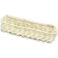Kesoto ラタン フォーク 食器 収納 バスケット  全2色選べる - 白