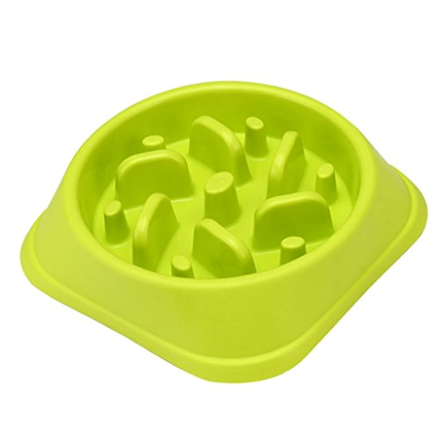 人形逃す服を洗うBaosity ペット 犬 猫 インタラクティブ スローフード フィーダ フィード 皿 ボウル 安全性 全3色選べる - 緑