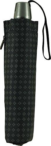 Knirps 折りたたみ傘 ワンタッチ自動開閉式 コンパクト 【正規輸入品】 T.200 MediumDuomatic Rhombus Black KNT200-7041