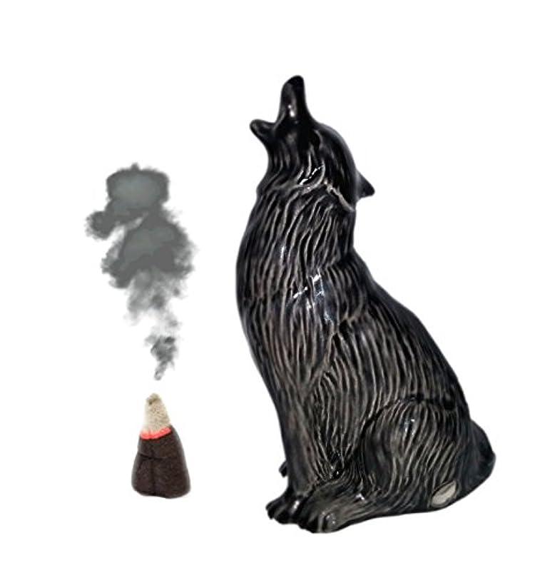 むさぼり食う防止キロメートルHowling Wolf Cone Incense Burner S ブラック