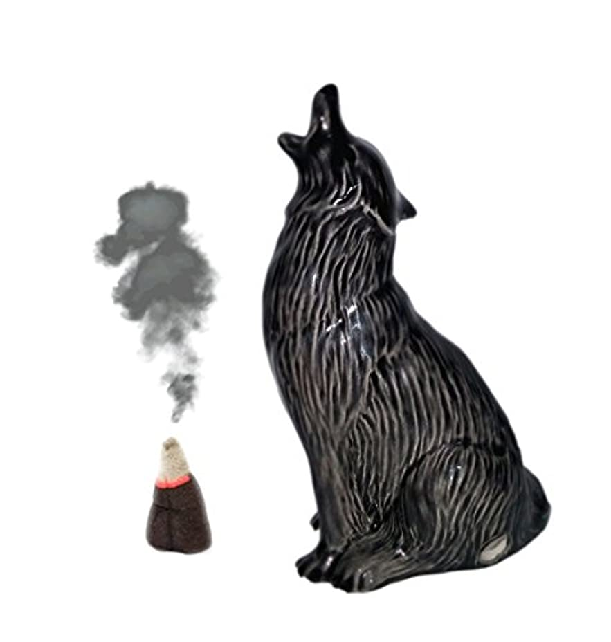 Howling Wolf Cone Incense Burner S ブラック