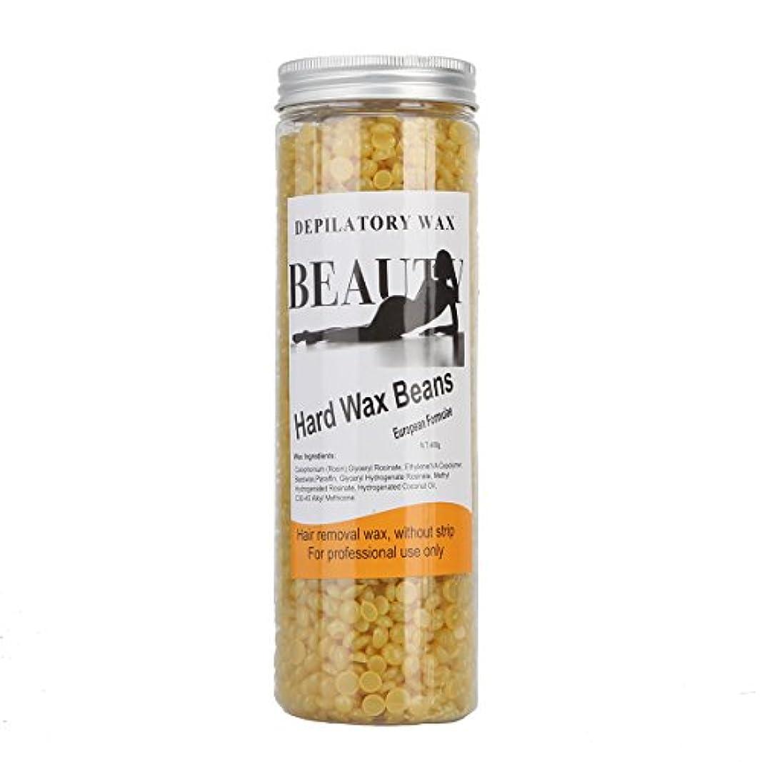 省第五通信網(アーニェメイ)Bonjanvye ワックス脱毛 スパチュラ 2本 ブラジリアンワックス 粒 400g 1缶 ワックス脱毛セット-ハチミツ