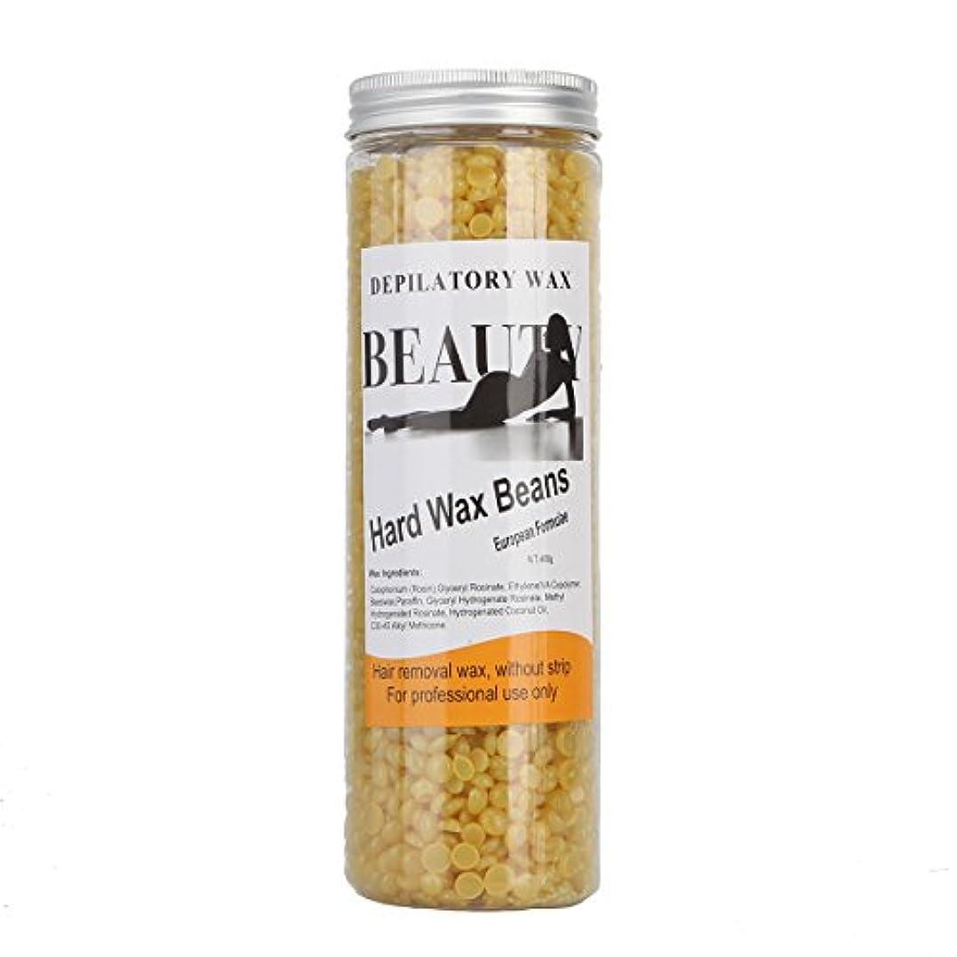 失礼な入口慈善(アーニェメイ)Bonjanvye ワックス脱毛 スパチュラ 2本 ブラジリアンワックス 粒 400g 1缶 ワックス脱毛セット-ハチミツ