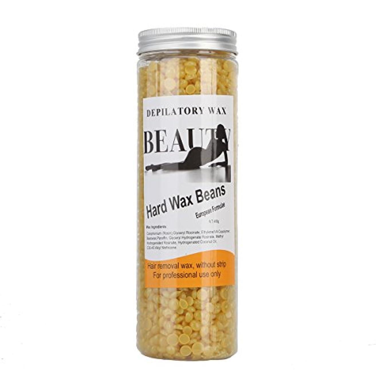 極貧ただ狂信者(アーニェメイ)Bonjanvye ワックス脱毛 スパチュラ 2本 ブラジリアンワックス 粒 400g 1缶 ワックス脱毛セット-ハチミツ