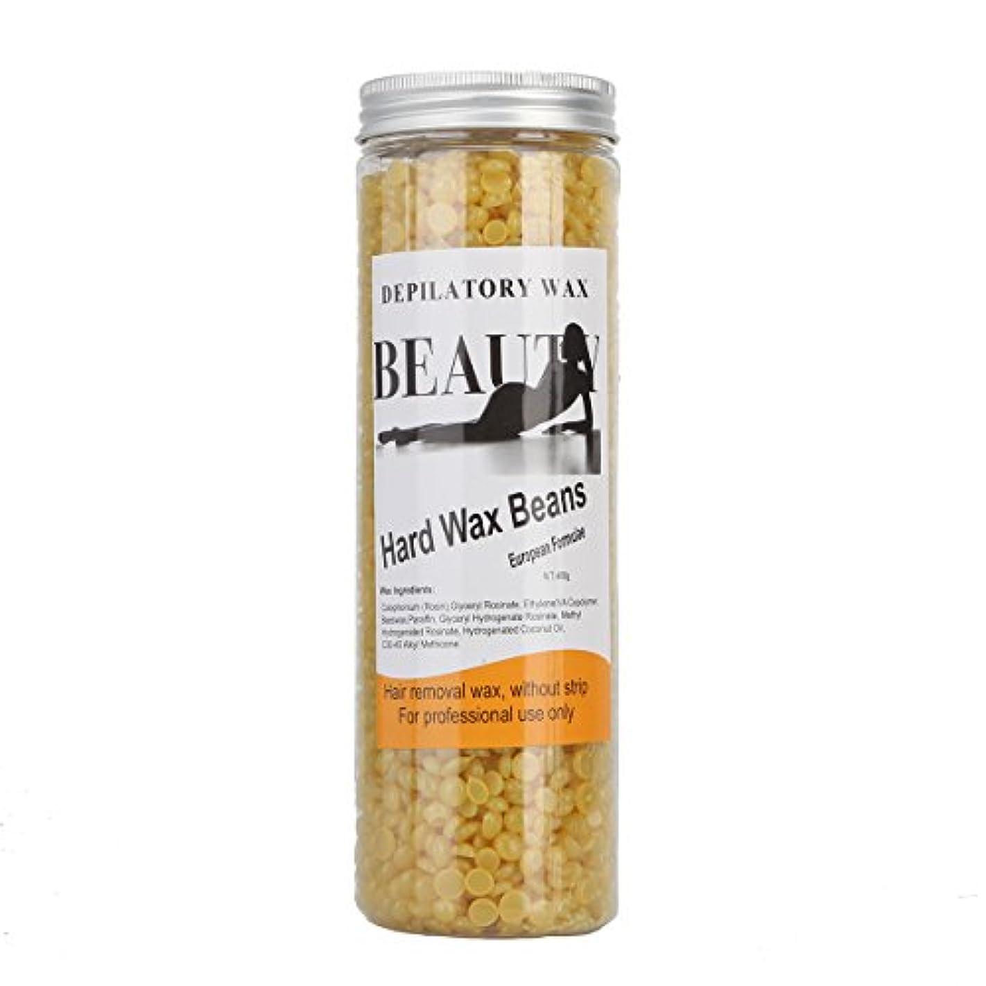 松シャワー優しい(アーニェメイ)Bonjanvye ワックス脱毛 スパチュラ 2本 ブラジリアンワックス 粒 400g 1缶 ワックス脱毛セット-ハチミツ