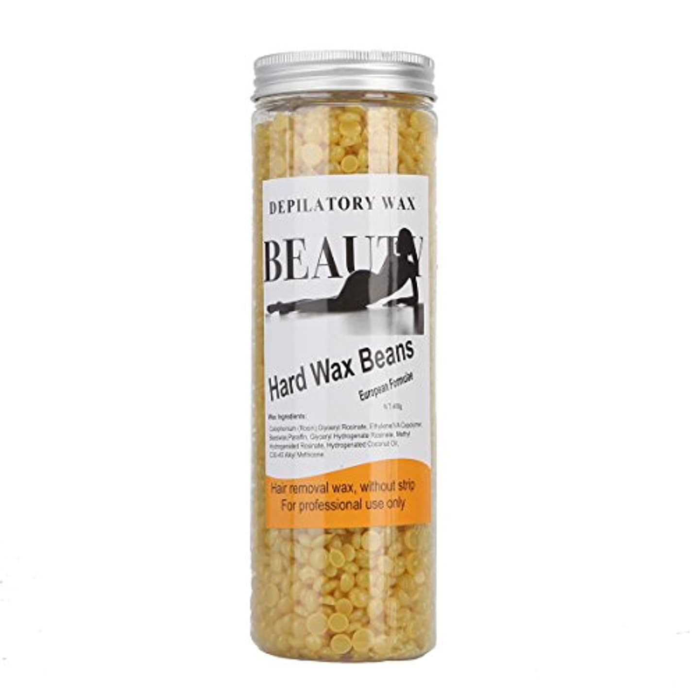 終わり交渉するささやき(アーニェメイ)Bonjanvye ワックス脱毛 スパチュラ 2本 ブラジリアンワックス 粒 400g 1缶 ワックス脱毛セット-ハチミツ
