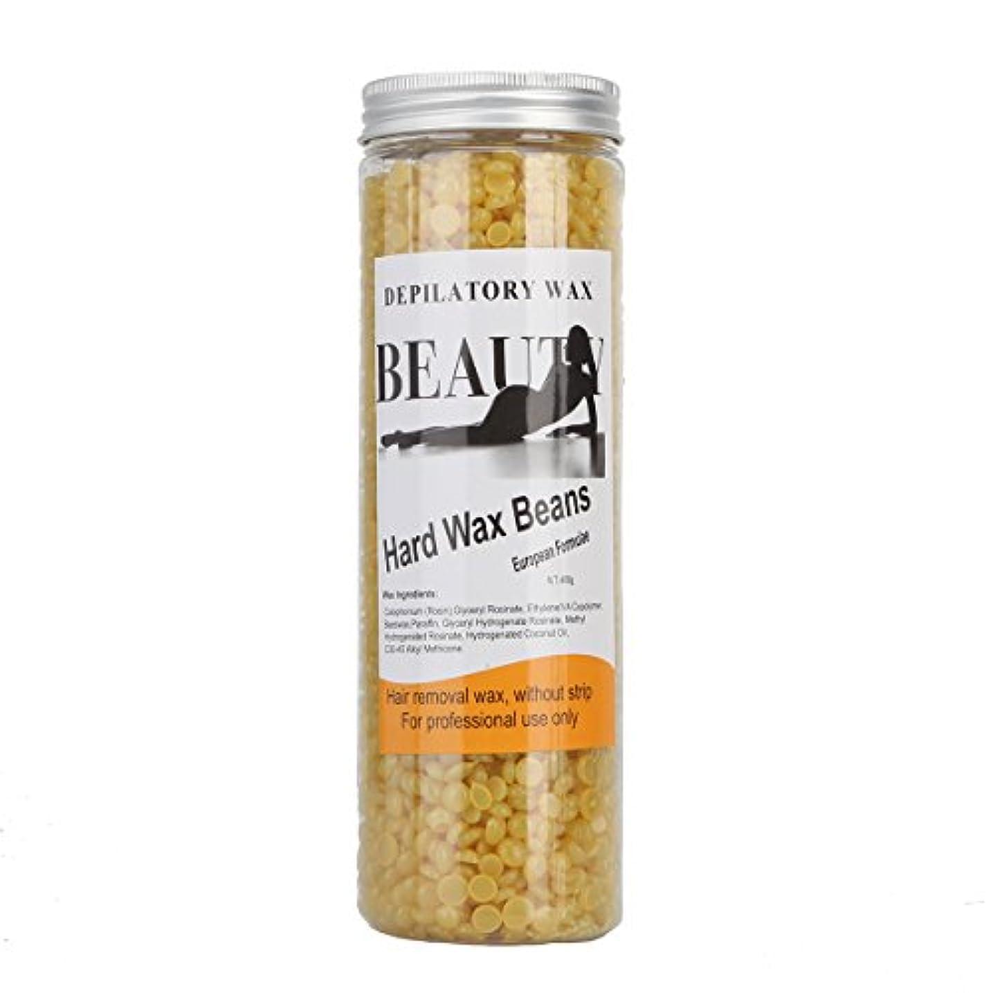 安価な批判遺伝子(アーニェメイ)Bonjanvye ワックス脱毛 スパチュラ 2本 ブラジリアンワックス 粒 400g 1缶 ワックス脱毛セット-ハチミツ