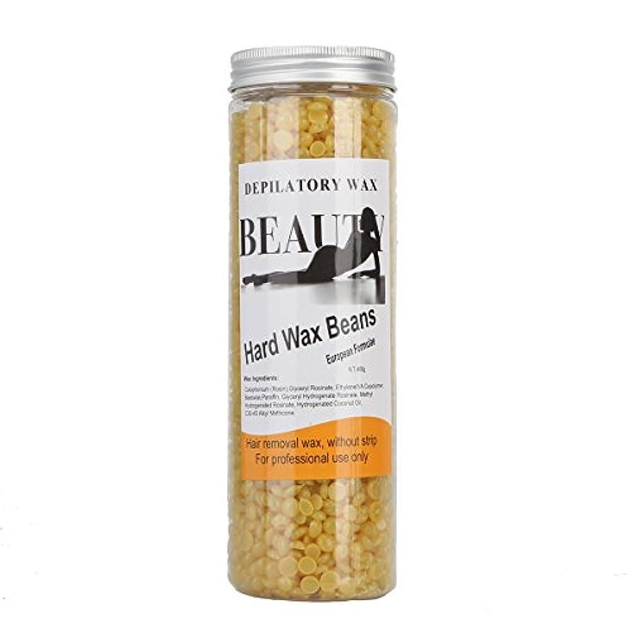 想起警告上陸(アーニェメイ)Bonjanvye ワックス脱毛 スパチュラ 2本 ブラジリアンワックス 粒 400g 1缶 ワックス脱毛セット-ハチミツ