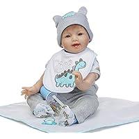 Decdeal 55cm 赤ちゃん人形 女の子 PP シリコン かわいい ギフト おもちゃ 恐竜パターン 服付き