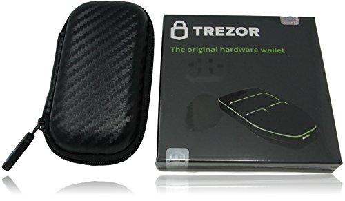 Trezor BitcoinハードウェアWallet withカスタムケースバンドル、Cryptocurrencyストレージ、携帯ケース、耐衝撃、防水