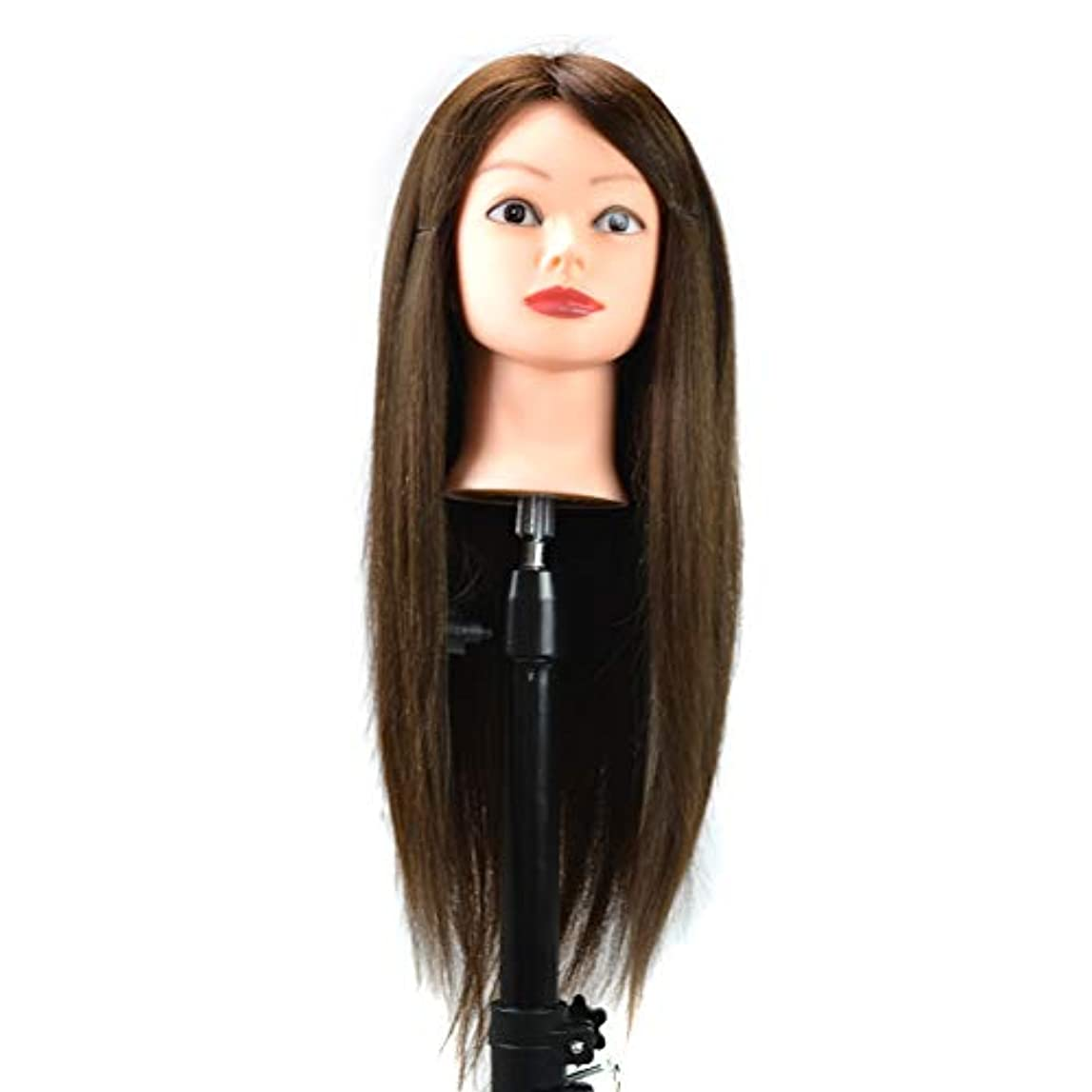 湿ったやりがいのある先住民スタイリング編組ダミーヘッドトレーニングヘッドディスクヘアーメイクアップウィッグマネキンヘッドにすることができますヘアカール人間の髪の練習ヘッドモールド